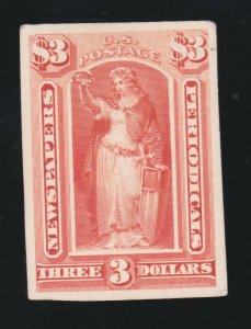 US PR72P4 Newspaper Periodical Proof on Card VF-XF appr SCV $15