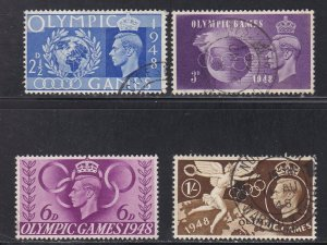 Great Britain # 271-274, Olympic Games, Used, 1/2 Cat.