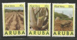 ARUBA  29-31  HINGE REMNANT,  ALOE VERA PLANT