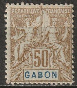 Gabon 1904 Sc 28 Yt 28 MH* disturbed gum
