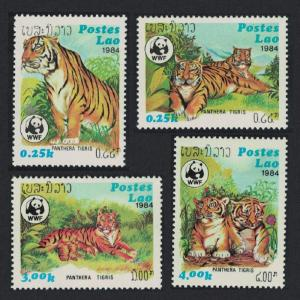 Laos WWF Tiger 4v SG#704-707 SC#517-520 MI#706-709