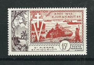 St. Pierre and Miquelon #C19 MNH CV$19.00 Liberation Tank [53391]