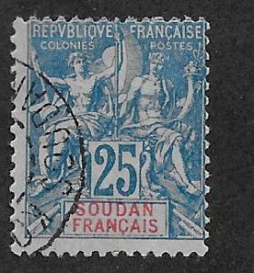 FRENCH SUDAN SC# 13  AVF/U  1900