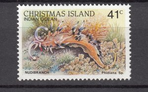 J28377, 1987-89 christmas island part of set mnh #204a marine life
