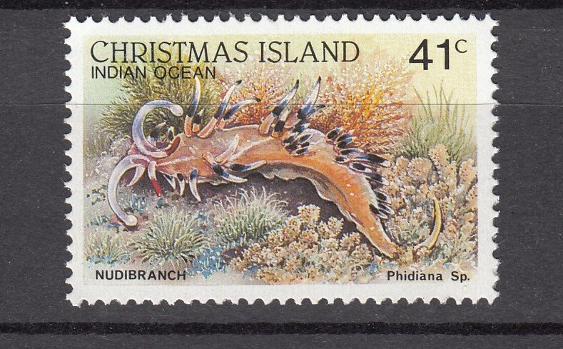 J28377, 1987-89 christmas island part of set mnh #204a marine life