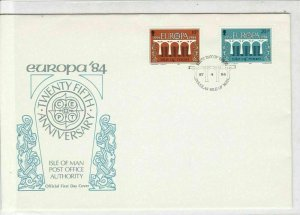 Europa 1984 25th Ann Isle of Man Post Office Authority FDC Stamps Cover Ref23400