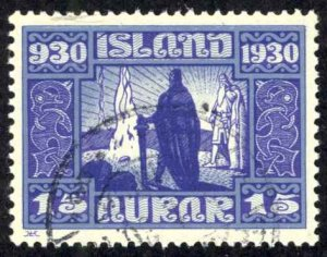 Iceland Sc# 156 Used 1930 15a Definitives