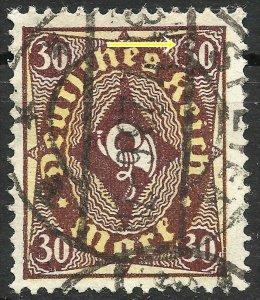 Germany Deutsches Reich Plate Flaw I