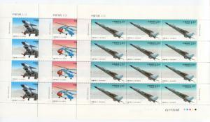 China -Scott 3899-3901 - Military Aircraft - 2011-9 - MNH- 3 X Full Sheet