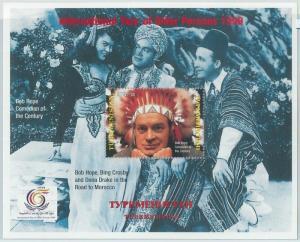 1940 - TURKMENISTAN, SOUVENIR SHEET: Bob Hope, Bing Crosby, Dona Drake, Cinema