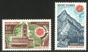 HALF CAT FRENCH COL. SALE: ANDORRA #262-3 Mint NH