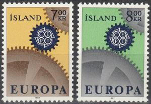 Iceland #389-90  MNH F-VF CV $3.00  (V388)