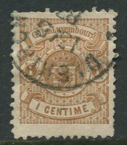 Luxembourg - Scott 40 - Coat of Arms - 1880 - Used- Single 1c Stamp