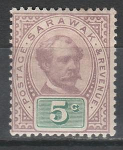 SARAWAK 1888 RAJA 5C