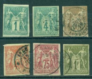 French Colonies #24-29  Used  CV$290.50   #24  Mint