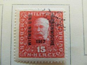 Bosnia & Herzegovina 1917 15h fine used semi-postal stamp A13P18F55