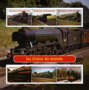 Central African Republic 2012 Trains of the World Sheet Perforated mnh.vf