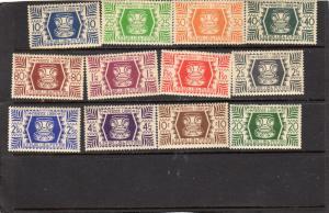 Wallis & Futuna 1945 Definitives  MH