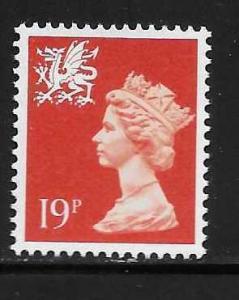 Great Britain Wales WMMH36 19p Machin MNH