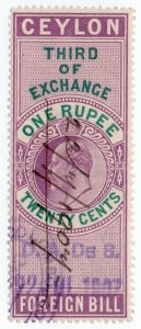(I.B) Ceylon Revenue : Foreign Bill 1R 20c (Third)