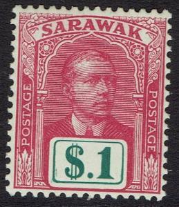 SARAWAK 1918 RAJA VYNER BROOKE $1 NO WMK