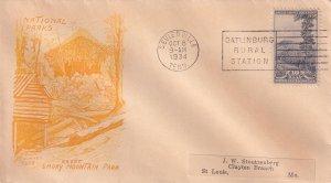 1934, Smoky Mountain Park, Grimsland Cachet, FDC (E11852)