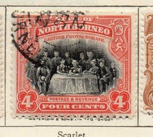 North Borneo 1909 Early Issue Fine Used 4c. NW-113838