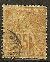 French Colonies 53 Mi 52 Used F/VF 1881 SCV $5.50