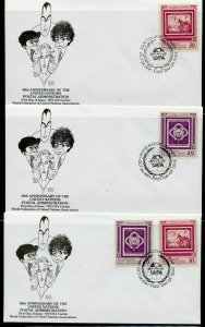 UN 1991 40th ANNIVERSARY WFUNA CACHET BY AL HIRSCHFELD  ON 10 FIRST DAY COVERS