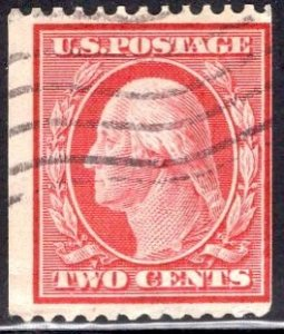 US Stamp #349 Two Cent Washington Coil USED SCV $150