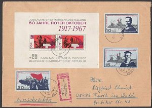 EAST GERMANY 1967 Registered cover - great franking.........................B368