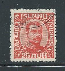 Iceland 121 used, 2018 CV $57.50