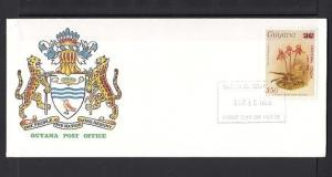 Guyana, Scott cat. 1372. Cristobal Colon o/p on Orchid issue. First Day Cover.