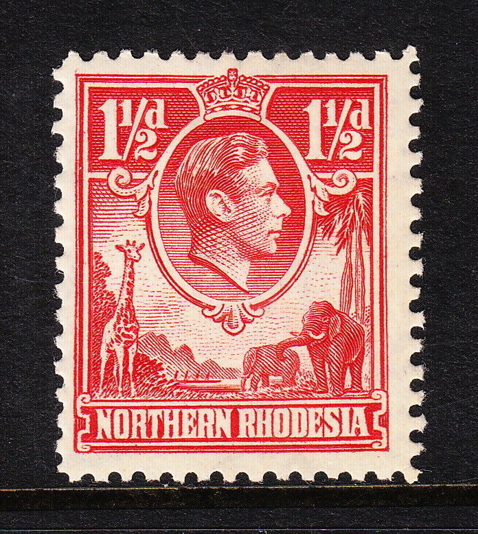 Northern Rhodesia (until 1964) Herrickstamp Northern Rhodesia Sc.# 29 Mint Hinged Scott $ $30.00 Reasonable Price