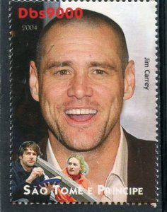 Sao Tome & Principe 2004 JIM CARREY American Actor 1v Perforated Mint (NH)
