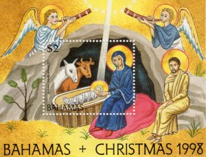Bahamas 1998 Sc#932 Christmas Nativity scene Souvenir Sheet (1) MNH