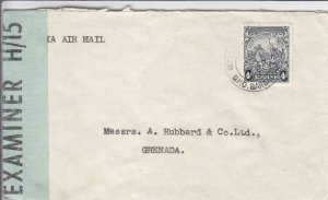 1943, Barbados, BWI to Grenada, Censored, See Remark (C4310)