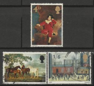 GB 1967 Paintings 3V used SG#748-750 S1047