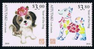 2017 Aitutaki 986-87y Year of the Dog 13,00 €