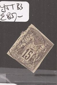 French Colonies Y&T 33 VFU (7cef)