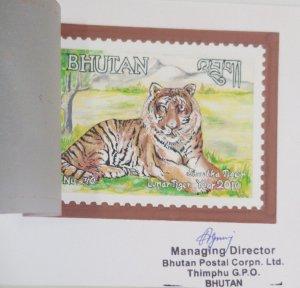 O) 2010 BHUTAN, DIE PROOF ORIGINAL, WWF, SAVE THE TIGER. LUNAR TIGER YEAR, MANAG