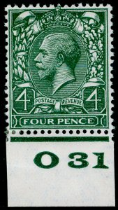 SG424 SPEC N39(1), 4d deep grey-green, LH MINT. Cat £20+ CONTROL O31