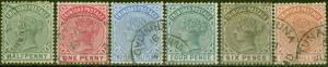Trinidad 1883-84 set of 6 to 1s SG106-112 V.F.U