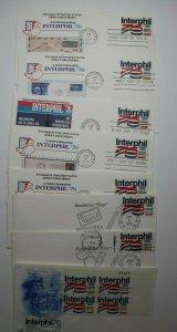 INTERPHIL 76 Exhibition Philadelphia PA 1976 Poster Stamp Sc# 1632 Set 9