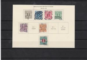 denmark 1914 newspaper stamps used cat £40 ref 7443