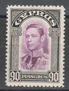 CYPRUS 1938 KGVI 90PI