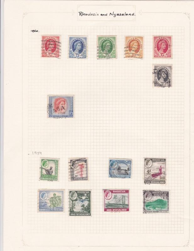 rhodesia & nyasaland stamps page ref 17941