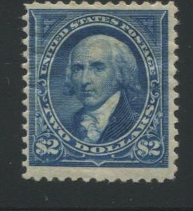 1894 US Stamp #262 $2 Mint Original Gum Hinged Catalogue Value $2750 Certified