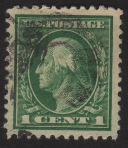 1917 US, 1c stamp, Used, George Washingtom, Sc 498, XF Jumbo