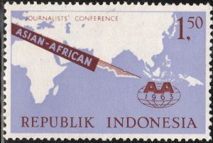 INDONESIA 594, ASIAN-AFRICAN JOURNALIST CONF. MINT, NH, VF. (428)